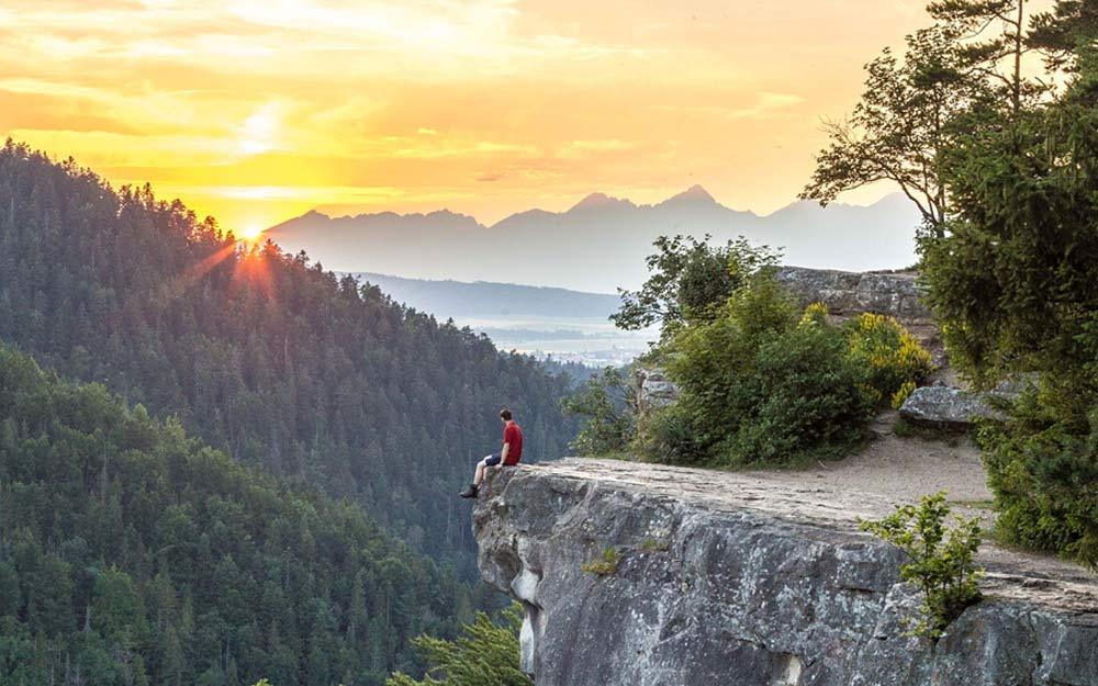 Krásne výhľady z Tomáškovského výhľadu